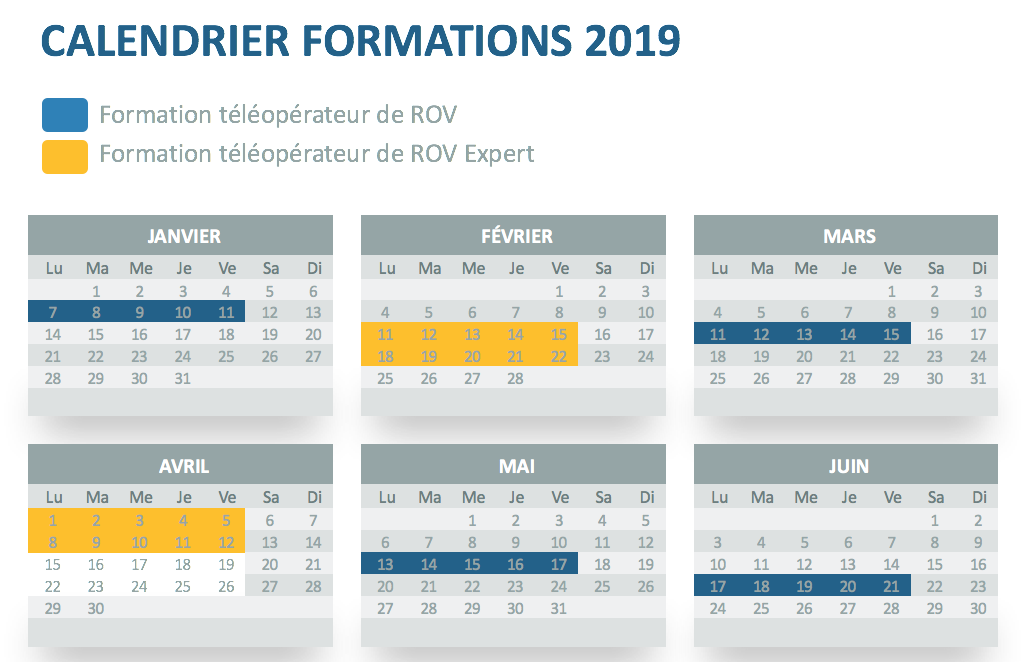 Calendrier formations ROV 2019 V2
